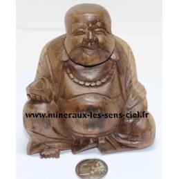 Bouddha en Bois de Suar