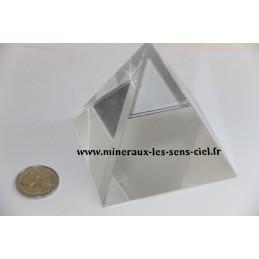 Pyramide 8X8cm en Cristal de verre