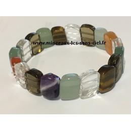 Bracelet plaquette Multistones