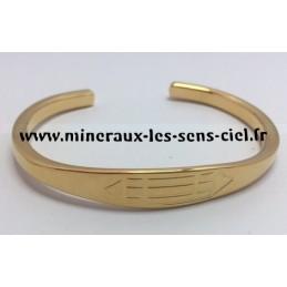 Bracelet Louxor Brut plaqué or