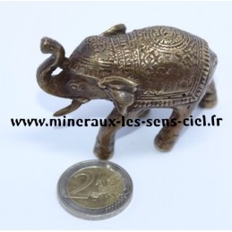 Elephant en Bronze Antique doré