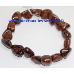 Bracelet Nuggets Obsidienne Acajou
