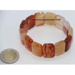Bracelet Plaquette Large Cornaline