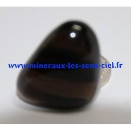 Obsidienne Lamelle transparent pierre roulée