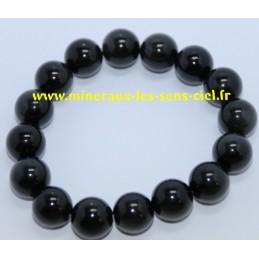 Bracelet Boules 12mm Obsidienne Oeil Céleste