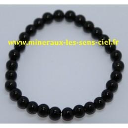 Bracelet Boules 6mm Obsidienne Oeil Céleste