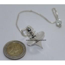 Pendule Ovni en Cristal de Roche
