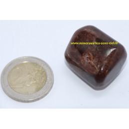 Hessonite pierre roulée