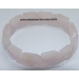 Bracelet Triangle Quartz rose