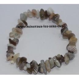 Bracelet Baroque Agate de Botswana