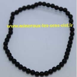 Bracelet Boules 4mm Onyx Mat