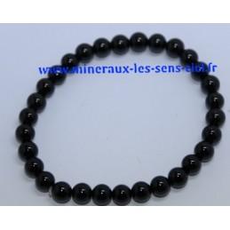 Bracelet Boules 6mm Tourmaline Noire