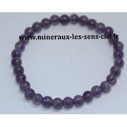 Bracelet Boules 6mm Amethyste