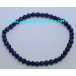 Bracelet Boules 4mm Lapis Lazuli