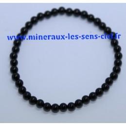 Bracelet Boules 4mm Onyx
