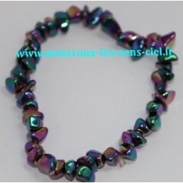 Bracelet Baroque Rainbow (Hématite Chauffée)