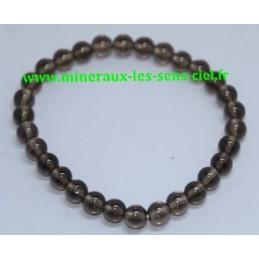 Bracelet Boules  6mm Quartz Fumé
