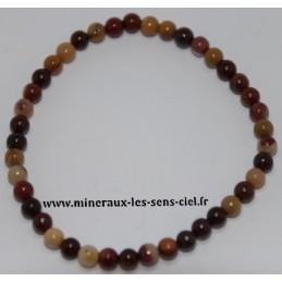 Bracelet Boules 4mm Mokaïte