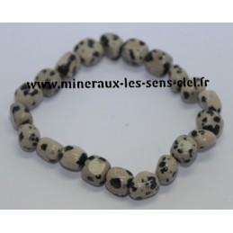 Bracelet Nuggets Jaspe Dalmatien