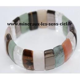 Bracelet Plaquette Multi-Pierre