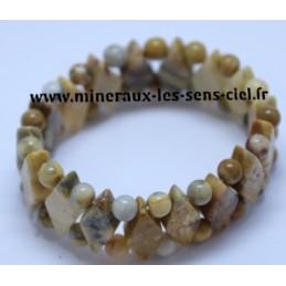 Bracelet Losange Agate Crazy Lace