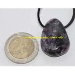 Pendentif Goutte pierre Charoïte