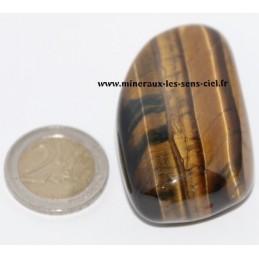 Oeil de Tigre et Oeil de Faucon galet pierre roulée 66gr