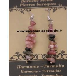 Boucle d'Oreille Baroque Tourmaline Multicolore