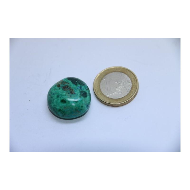 Chrysocolle pierre roulée