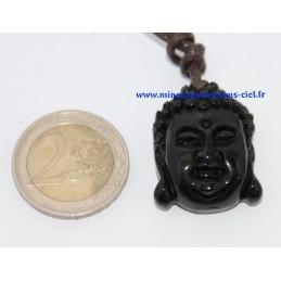 Pendentif Bouddha Obsidienne Oeil Céleste