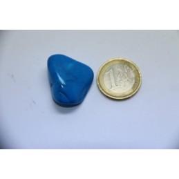 Howlite bleu pierre roulée