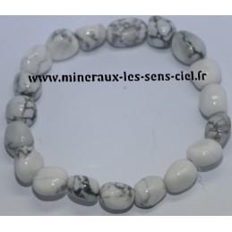 Bracelet Nuggets Howlite Blanc