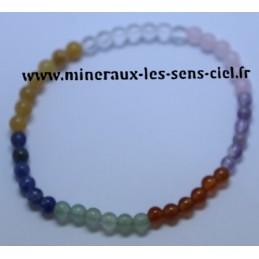 Bracelet Boules 4 mn 7 Chakras