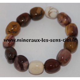 Bracelet Nuggets Mokaite env. 12 x 16 mm