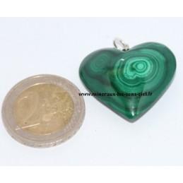 Pendentif Coeur Malachite
