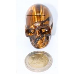 Crâne Oeil de Tigre 4cm
