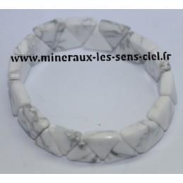 Bracelet Triangle Howlite Blanche