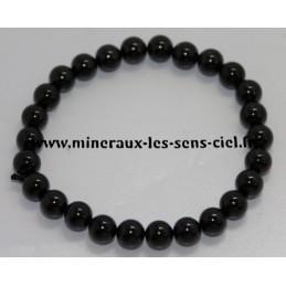 Bracelet Boules 8mm Spinelle noire
