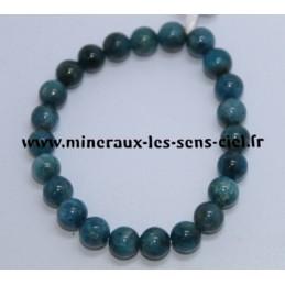 Bracelet Boules 8mm Apatite Bleue