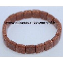 Bracelet Square Pierre d'Or de Synthèse