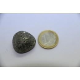 Pyrite pierre roulée