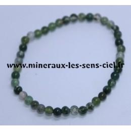 Bracelet Boules 4mm Agate Mousse