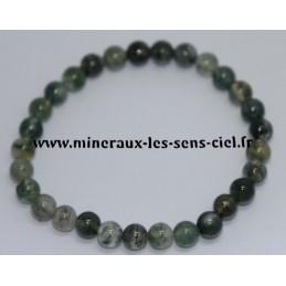 Bracelet Boules 6mm Agate Mousse