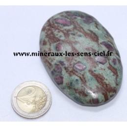 Rubis sur Fuchsite galet pierre roulée