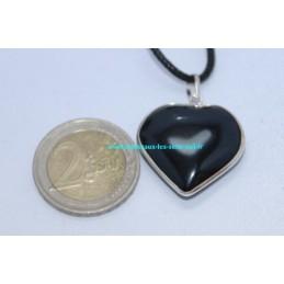 Pendentif Coeur Tourmaline sur argent
