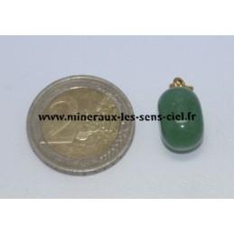 Pendentif Aventurine verte pierre roulée