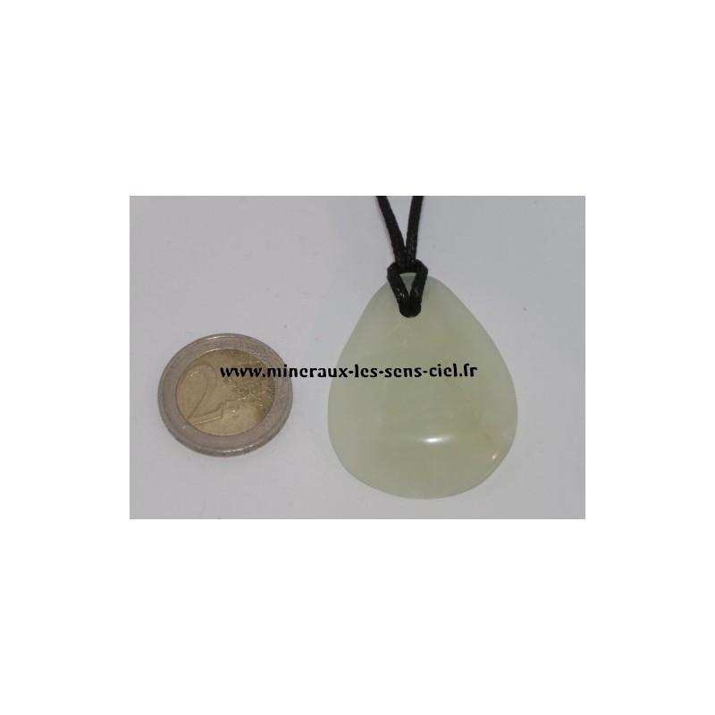 Pendentif Chips Jade Vert