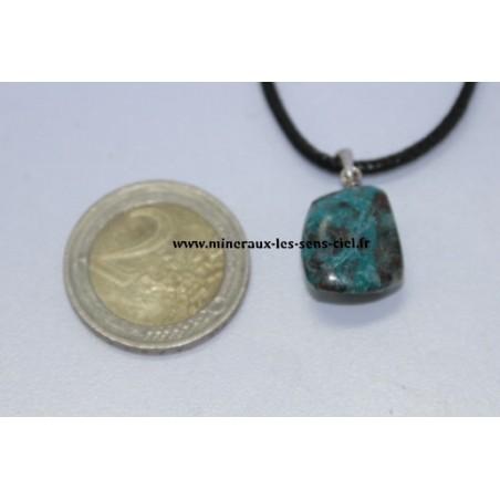 Pendentif Chrysocolle bélière en argent