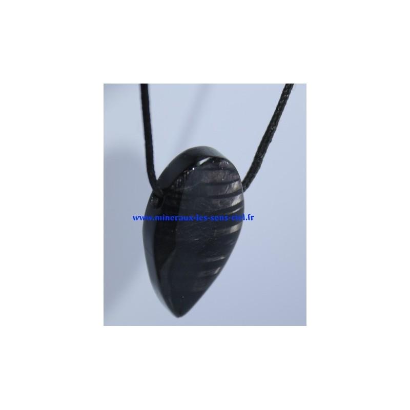 Pendentif Hypersthène pierre roulée
