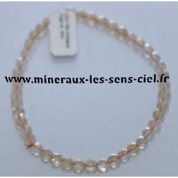 Bracelet Boules 4mm Citrine